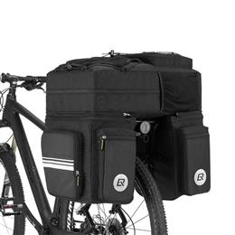3 in 1 Waterproof Bicycle Bags Pannier 48L MTB Mountain Bike Rack Bag