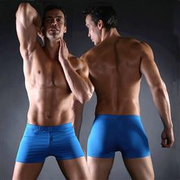 Classic Bathing Suit Men Vintage Solid Male Swimming Trunks