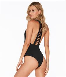 Black Color One Piece Swimwear Swimsuit Monokini One-piece Swimsuit bathing suit