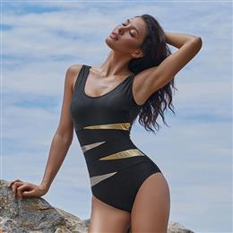 2018 Women Large Size Swimsuit Plus Size Swimwear Solid Bodysuit One Piece Swimsuit