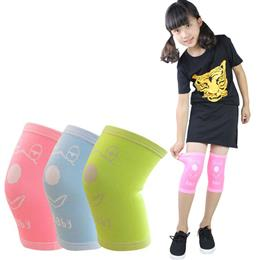 1 Pair Teenagers Protective Warm Knee Pad Children Breathable Drop Resistance Knee Support