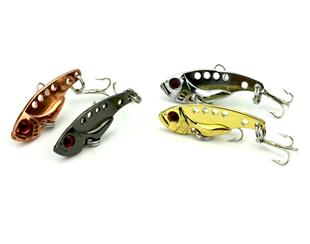 4pcs 4 Color Full Swimming Layer Shock VIB 35mm 3.2g Metal Blade Fishing...