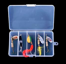 5pcs in one box Mixed Fishing Lures Set Kit Metal Lures for Trout Perch Bass Fishing Spoons   Hard Baits spinner bait