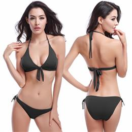 Top Removable Padding 2018 Hot Sale Cheap Bandage Ties Black Bikini