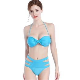 Hot Sales Top Twisted Bikini High Waist Hollow Out Bathing Swim Suit