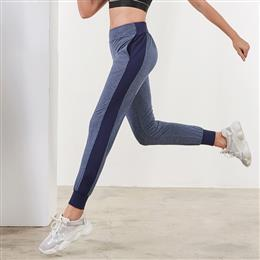 Sports Running Pants Women's Spliced Gym Yoga Sweatpants