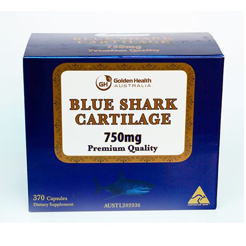 Golden Health Blue Shark Cartilage 750mg (2x185 capsules) GH-SHA2-185