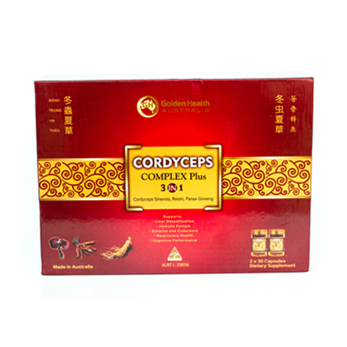 Golden Health Cordyceps Complex Plus 3 in 1 (2x30 capsules) GH-CORD60