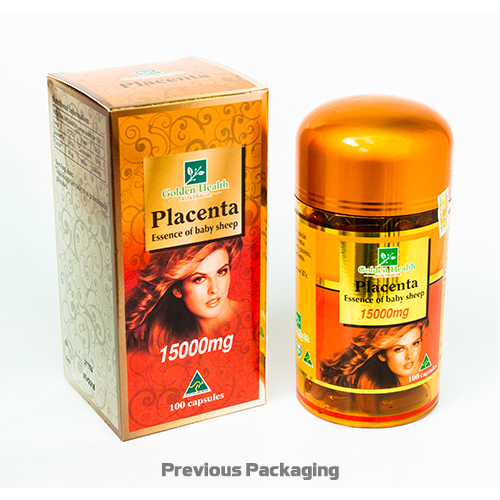 Golden Health Placenta 15000mg (100 capsules) GH-PLA15000