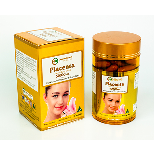 Golden Health Placenta 50000mg (100 capsules) GH-PLA50000