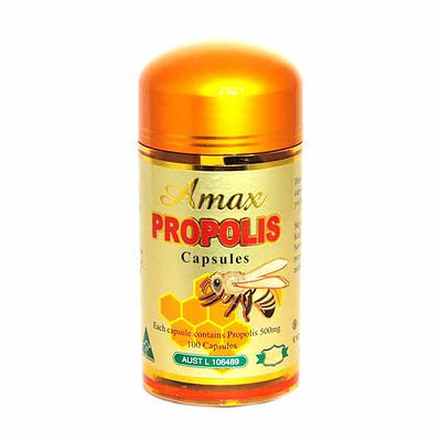 Amax Propolis 500mg 100 Capsules A15G-100