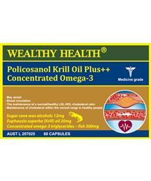 Wealthy Health Policosanol Krill Oil Plus++ Concentrated Omega-3