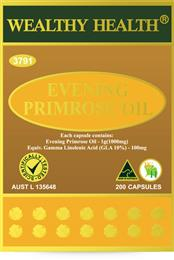 Wealthy Health Evening Primrose Oil 200 Capsules EPO200G