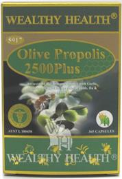 Wealthy Health Olive Propolis 2500 Plus 365 Capsules PP25000365