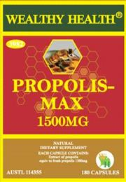 Wealthy Health Propolis-Max 1500mg 180 Capsules PPMAX180G
