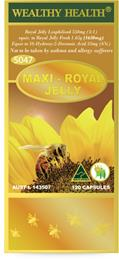 Wealthy Health Maxi-Royal Jelly 120 Capsules RJMAXI120