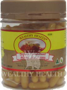 Wealthy Health Organic Lyophilised Royal Jelly 1000 with 180 Capsules