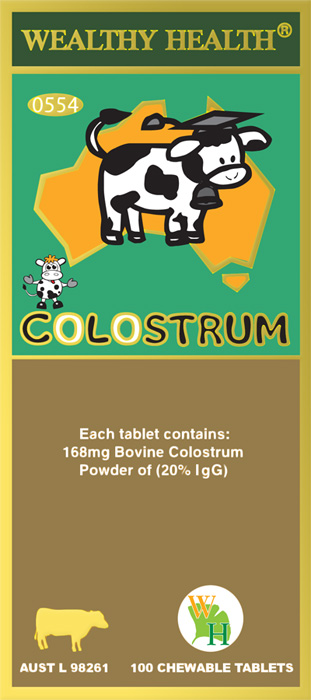Wealthy Health Colostrum 168mg 100 Tablets CL100