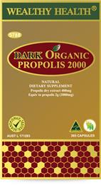 Wealthy Health Dark Organic Propolis 2000mg 365 Capsules PP2000