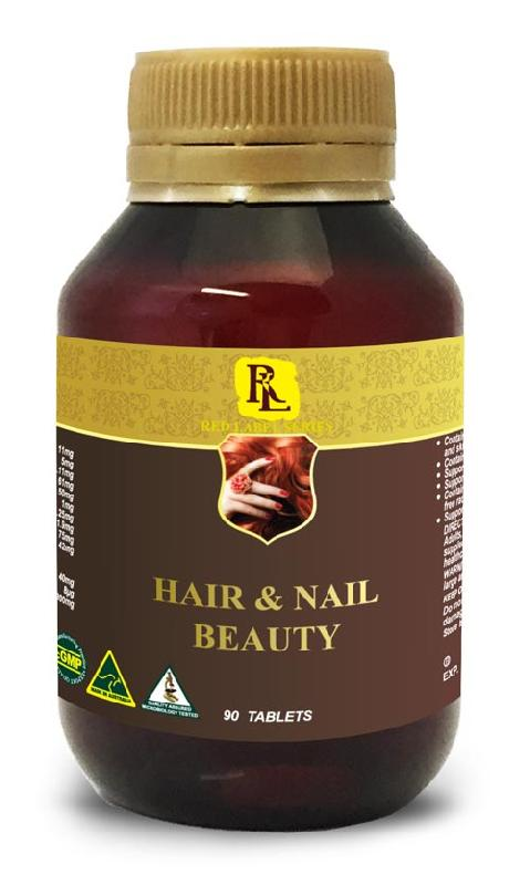 Red Label Hair Nail Beauty 90 Tablets