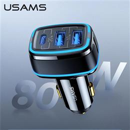 USAMS 80W Car Fast Charger Usb Type C PD 3.0 QC3.0 Quick Charge