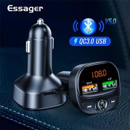 Essager Quick Charge 3.0 USB Car Charger FM Transmitter Handsfree Car Ki...