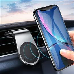 Metal Magnetic Car Phone Holder Mini Air Vent Clip Mount Magnet Mobile Stand