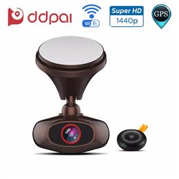 DDPai M6 Plus Wifi Dash Cam GPS Car DVR 1440P Ultra HD Night Vision Car Camera Video Recorder