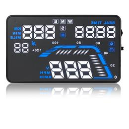 "Car Hud Head Up Display GPS Speedometer Q7 5.5"" Universal Overspeed Alarm"