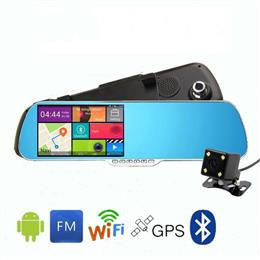 5 inch Android mirror dvr  GPS Navigator Rearview Mirror Car Video Recorder