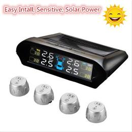 2017 Car Tire Tyre Pressure Monitor System Auto TPMS Wirless Diagnostic Solar Power