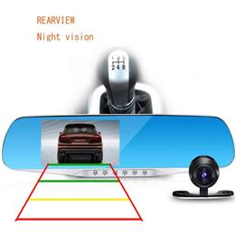 4.3inch Car Camera Mirror Full HD 1080P Car Rearview Mirror Camera Video Recorder Car DVR
