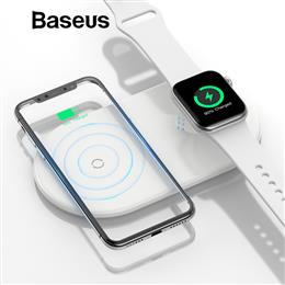 Baseus 2 in 1 Wireless Charger Fast Wireless Charging Pad