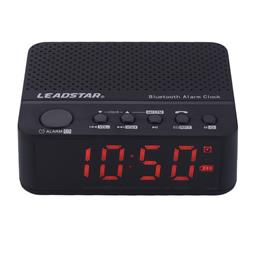 LEADSTAR Portable Mini Wirelss LED Alarm Clock Bluetooth Speaker Hands-free Calls FM Radio Amplifier Support TF Card MX-17