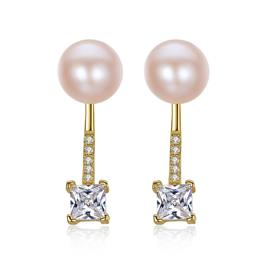 Romantic Silver 925 Jewelry Two Wearing Methods AAAAA Natural Pearl Stud Earrings