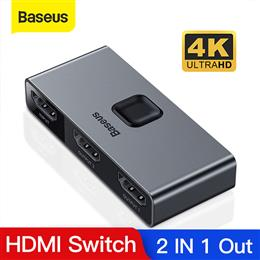 Baseus HDMI Splitter 4K 60Hz Bi-Direction HDMI Switch 1x2/2x1 HDR HDMI A...