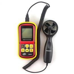 Portable Digital Anemometer 45m/s (100mph) LCD Air Velocity Temperature Tester Monitor Wind Speed Gauge Meter