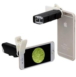 Free Shipping Universal Clip Jewelry LED 100X Microscope Magnifier for iPhone 6 6s Plus Samsung S7 S6 Note 5 Phones lens CL-53-2