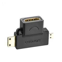 3 in 1 Mini HDMI Male Micro HDMI male to HDMI Female Converter adapter for tablet pc tv mobile phone