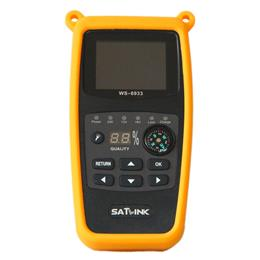 Satellite Finder FTA Ultra-Fast Compact DVB-S DVB-S2 Signal Meter Receiver WS6933 with Compass FlashLight