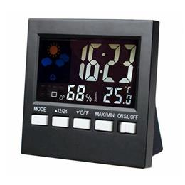 LCD Digital Sound Control Weather Station Thermometer Hygrometer Alarm Clock