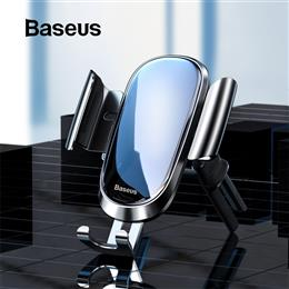Baseus Car Phone Holder For Round Air Vent Mount Gravity Mobile Phone Holder Clip Cell Stand