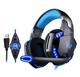 G2200 Gaming Headphone USB 7.1 Surround Stereo Headset Vibration System Rotatable Microphone Earphone Mic LED USB