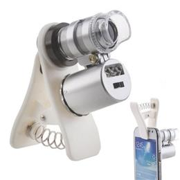 Universal Pocket Clip 60X Microscope with LED/UV Lights for Universal SmartPhones CL-49-2