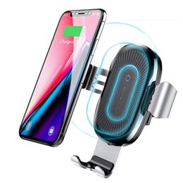 Car Holder Qi Wireless Charger For iPhone Samsung S9 Plus Mobile Phone Holder