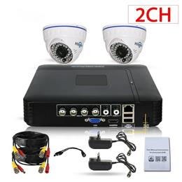 CCTV Camera DVR System AHD 720P Kit Optional 2Channel CCTV DVR HVR NVR Infrared Dome Camera Security