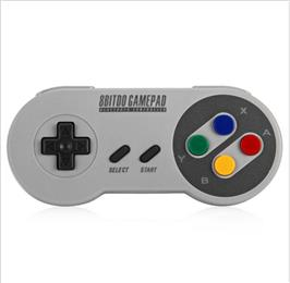 8Bitdo SFC30 Pro Mini Wireless Bluetooth Gamepad Wireless Game Controller for PC iOS Android with Xtander for SFC30/SNES30