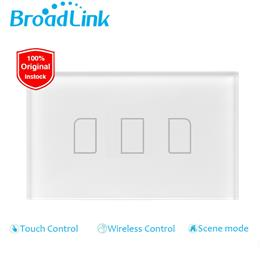 3 gang,smart home Automation,phone Remote wireless control lamp light Switch forbroadlink rm pro