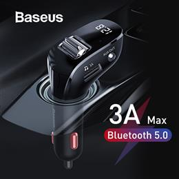 Baseus Bluetooth 5.0 Handsfree Audio MP3 Player Dual USB Car Charger