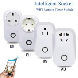 wifi Wireless Remote Control Socket Intelligent Plug Timer Home Automation Power Switch From AU EU Socket